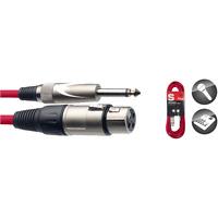 Câble Rouge Jack 6,35 Mâle Mono  vers XLR 3 Broches Femelle Long 3 Métres