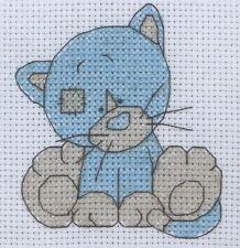 Stickpackung Stickbild sticken Kittywink Kitty Katze Kätzchen Cat Kreuzstich Kit
