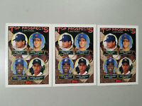 """Lot of 3 Rookie 1993 Topps """"Top Prospects"""" Catchers Baseball Card #BC12"""