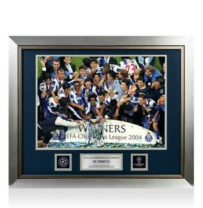 UNSIGNED FC Porto Official UEFA Champions League Framed Photo: 2004 Winners
