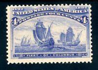USAstamps Unused FVF US 1893 Columbian Expo Fleet of Columbus Scott 233 OG MVLH