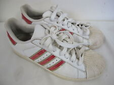 ADIDAS SUPER STAR SNEAKERS SHELL RUBBER TIP RED WHITE METALLIC SILVER   MEN'S 9