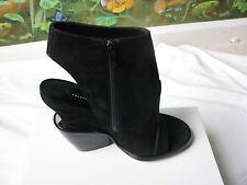 Theyskens' Theory Black Suede Elerie Aova Tiered-heel Shoes SZ 6 New Italy