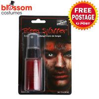 AC570 Mehron Splatter Blood 30ml Costume Halloween Zombie Face Paint Makeup SFX