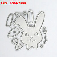 Cute Rabbit Cutting Dies Stencils DIY Craft Scrapbooking Paper Cards Making Gift