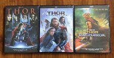 Thor, Thor The Dark World, Thor Ragnarok Complete Trilogy Brand New DVD