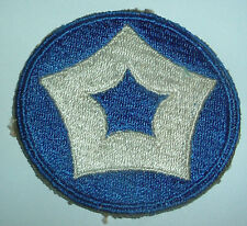 AMERICAN PATCHES-ORIGINAL WW2 UNITED STATES 5th SERVICE COMMAND SNOWY BACK