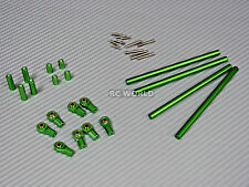 Axial SCX10 Aluminum METAL RODS Trailing Arms Links 105mm-130mm SET  GREEN