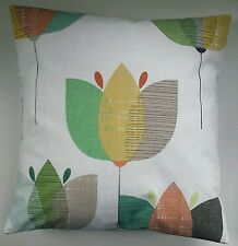 "16"" Cushion Cover in Next Retro Tulip Matches Bedding Curtains"