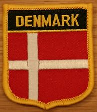 DENMARK Danish Shield Country Flag Embroidered PATCH Badge P1
