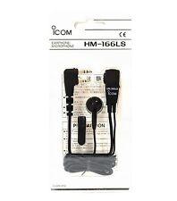 NEW ICOM HM-166LS Light Ear Mic/Earphone-Mic for ID-31A ID-31E ID-51A ID-51E