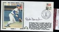 Bob Forsch Signed Jsa Certed 1982 World Series Fdc Autograph Authentic