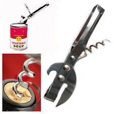 Can Bottle Opener Kitchen Gadget Stainless Manual Spiral Cork Tin Wine Soda Tool