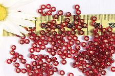6/0 Czech Seed  Beads Silver Lined Garnet /28 grams