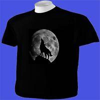 Howling Wolf Full Moon T-Shirt Animal Wildlife