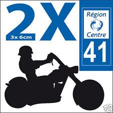 2 stickers autocollants style plaque immatriculation moto Département 41