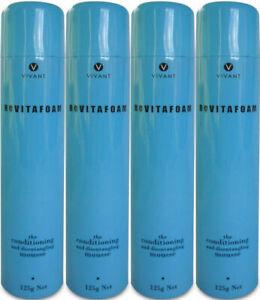 VIVANT REVITAFOAM 125 ML THE CONDITIONING MOUSSE X 4