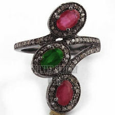 Antique Finished 1.51cts Rose Cut Diamond Jewelry Gemstone Studded Gorgeous Ring