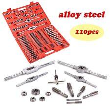 Toolrock 110pcs Metric Tap And Die Set Alloy Steel Screw Threading Heavy Duty