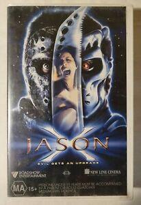 Jason X VHS 2001 Horror/Slasher Jim Isaac Kane Hodder Roadshow (Ex-Rental)