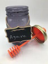 New listing Honeycomb Purple Honey Jar With Chalkboard Label - Ball Jar