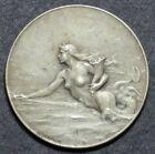 French Art Nouveau medal Compagnie Le Transatlantique by Patriarche (ca. 1900)