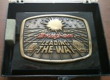Vtg Brass SNAP-ON TOOLS Belt Buckle 1988 Ltd. Edition Leading The Way Star Wars
