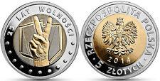 Poland 5 zloty 2014 25 anniversary of independence (25 Lat Wolnosci) UNC (#707)