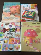 "4 Books ""Baking With Tiny Tots"", ""Kids' Cakes & Party Food"", ""Pops! Sweets"" *VGC"