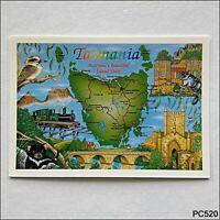 Tasmania Tourist Map Postcard (P520)
