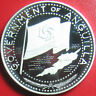 1970 ANGUILLA $2 DOLLARS SILVER CAMEO PROOF NATIONAL FLAG MAP VERY RARE COIN!!