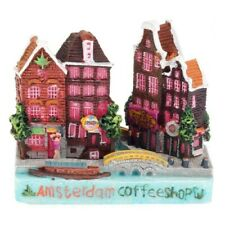 Amsterdam, Holland city scene (polystone) / magnet - coffee shop