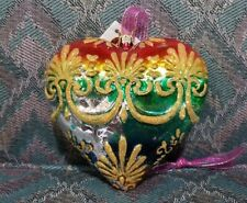 Christopher Radko Rainbow Baroque Hearts Ornament