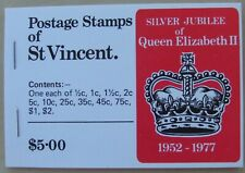 1977 St Vincent Stamp Booklet with 12 mint Silver Jubilee stamps