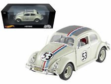 1:18 Hot Wheels Disney Vw Beetle #53 Herbie The Love Bug 1962
