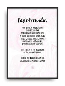 Geschenk Karte BESTE FREUNDIN Kunstdruck Ehrentitel Kollegin Auszeichnung Bild