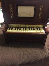J Chein Piano Lodeon 30 Key Electric Player Childrens Player Piano Toy Vintage