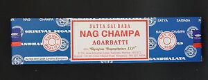 100g Box Satya NAG CHAMPA Original Scent Incense Insence Sticks Bulk Value Pack