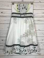 Urban Outfitters Kimchi Blue White Floral Strapless Party Dress Women's S Small