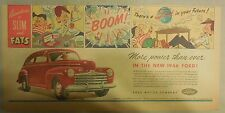"Ford  Ad: ""Adventures of Slim and Fats: 1946 Ford""  from 1946"