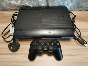 Sony PlayStation 3 PS3 12GB Super Slim Tested Inc Official Controller