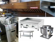 5FT Food Truck Package with Exhaust Hood, Propane Griddle, Stand and Fryer