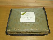 New Noble Excellence Rene Green & Gold Embroidered Euro Pillow Sham 26 X 26