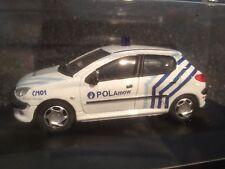PEUGEOT 206 POLICE POLAMOW BELGIUM 1/43 MODELCAR IN BOX