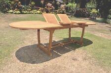 "94"" OVAL TABLE w/ TRESTLE LEGS -TEAK WOOD GARDEN OUTDOOR DINING FURNITURE PATIO"