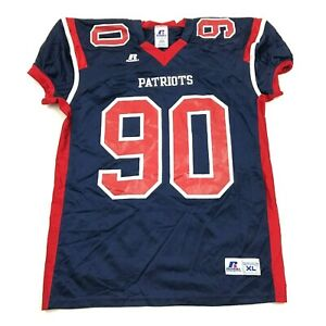 NEW Russell Athletic Patriots Football Jersey Youth Size XL New England Themed