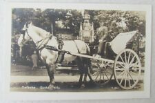 Galeche Quebec City Canada Horse-Drawn Carriage Vintage Real Photo Postcard Rppc