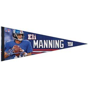 "ELI MANNING #10 NEW YORK GIANTS ROLL UP FELT PREMIUM PENNANT 12''x30"" WINCRAFT"