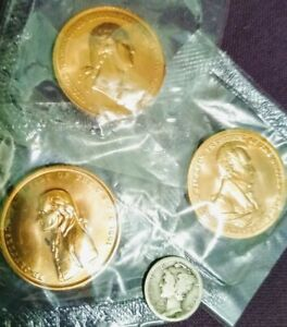 Vintage US Mint Peace & Friendship Presidential Tokens Lot 3 In Pkg
