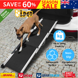 Pet Dog Ramp for Car Stairs 4WD Cat Telescopic Portable Adjustable Non Slip Ramp